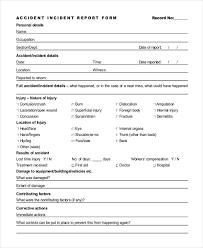 Accident Incident Investigation Report Form Templates