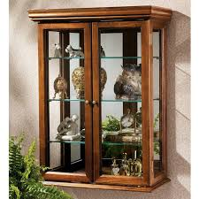 wall mounted curio cabinet. Country Tuscan WallMounted Curio Cabinet With Wall Mounted