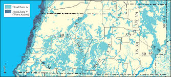 withlacoochee river watershed distribution of fema 100 year flood zones pasco county may 9 2001