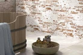 rustic brick effect wall tiles 20x50cm