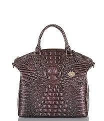 brahmin melbourne collection large duxbury crocodile embossed dome satchel dillard s