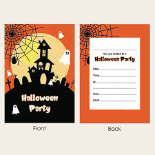 Birthday Invatations Halloween Party Invitations Spooky Night