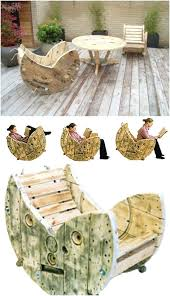 wooden spool rocking chair brilliant backyard furniture ideas that will give your outdoor cable spool rocking wooden spool rocking chair