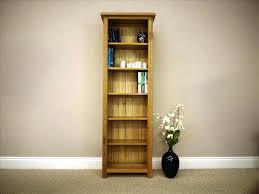long and low bookshelf narrow wood shelf tall slender shallow depth bookcase short