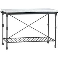 crate and barrel french kitchen island marble top measures x thick coaster bistro style with faux
