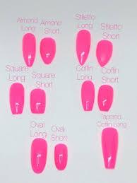 Nail Sizing Chart Ready To Ship Any Shape And Size Fake False Glue On Nails Studdedrosenails