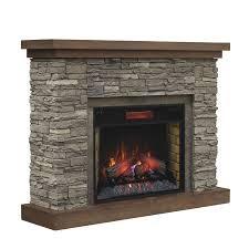 chimney free 54 in w 5200 btu brown ash wood veneer infrared quartz electric
