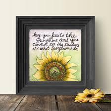 Sonnenblumen Geschenk Helen Keller Zitat Support Geschenk Etsy