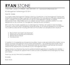 Cover Letter Sample For Management Trainee Adriangatton Com