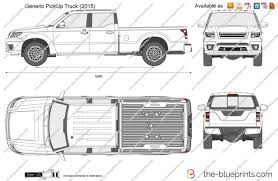 Generic PickUp Truck vector drawing