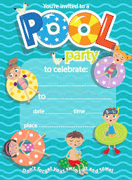 Pool Party Popular Pool Party Invitation Templates Free Download ...