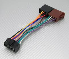 sony pin iso car stereo radio audio wire wiring harness sony 16 pin iso harness adapter for car stereo