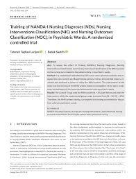 Nanda Nursing Diagnosis Pdf Training Of Nanda I Nursing Diagnoses Nds Nursing
