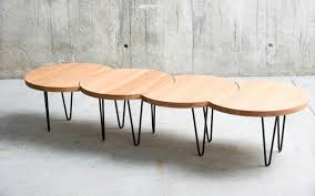 contemporary coffee table metal oak beech oruga qowood modular plans 126627 65