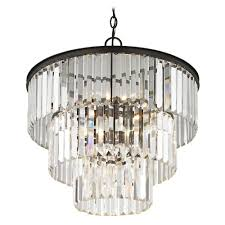 ashford classics lighting three tiered crystal chandelier bronze 1824 220 hover or to zoom