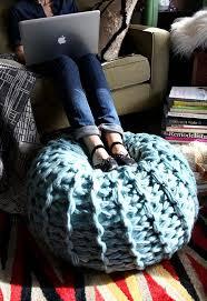 Arm Knitting Pouf Pattern