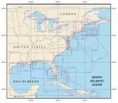 Ocean Depth Chart Eastern U S Noaa Nautical Chart Catalog