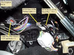2011 2014 explorer remote start pictorial here is a close up of the trailer pre wire harness