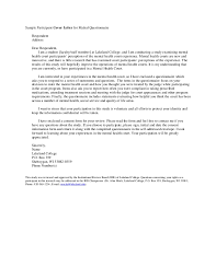 sample participant cover letter for mailed questionnaire respondent address dear respondent irb cover letter sample
