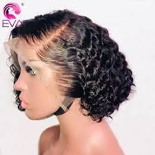 Goede Koop Eva 13x6 Korte Lace Front Menselijk Haar Pruiken Pre