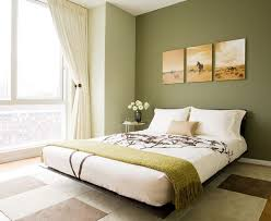 Bedroom:Contemporary Bedroom With A Floral Pattern And Green Color Scheme  Colors Paint Master Design