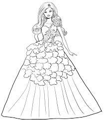 Disegno Di Barbie Magia Delle Feste Con Abito Bianco Da Stampare E