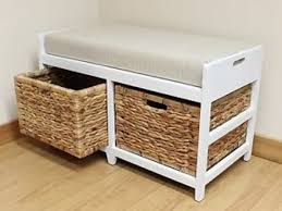 40 Small Storage Bench With Baskets Bench Seat With Thick Cushion