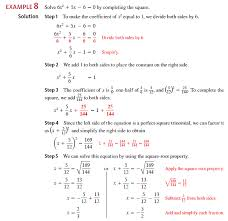 use completing the square to solve each equation see example 8 objective 3