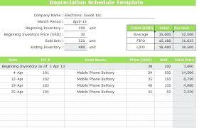 Depreciation Schedule Calculator Depreciation Calculator Template Fixed Assets Calculation