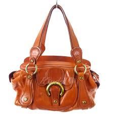 francesco biasia leather handbag orange brown size francesco biasia