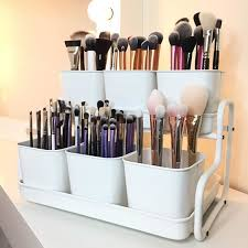 The makeup organizer is from IKEA and is called 'Socker pot with holder' by  iampriscillale