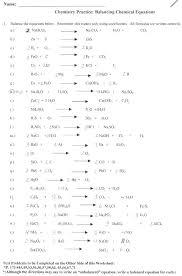practice propose the mechanism chemistry rksheets balancing chemical equations printable easy rksheet