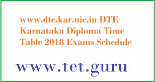 dte kar nic in dte karnataka diploma time table exams  dte karnataka diploma time table 2018 exam schedule