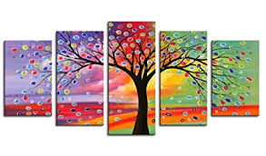 canvas wall art tree of life abstract painting canvas prints 5 pieces canvas art framed on canvas wall art tree of life with amazon canvas wall art tree of life abstract painting canvas