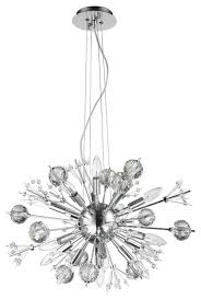 starburst atomic 20 light chrome finish clear crystal sputnik chandelier