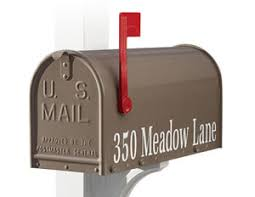 residential mailboxes side view. Add A Personal Touch To One Or Both Sides Of Your Janzer Series Mailbox With Marine-grade Ultraviolet-resistant Vinyl Characters In The Following Residential Mailboxes Side View