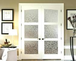 interior frosted glass door. Frosted French Doors Custom Interior With Decorative Glass Panels . Door