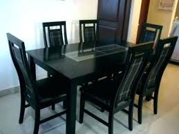glass top dining table set 6 chairs designs seater pepperfry and kitchen engaging