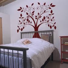 >giant tree falling leaves wall decals vinyl stickers