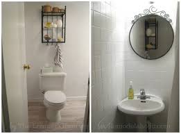Cheap Bathroom Makeover Simple Remodelaholic A 48 Bathroom Makeover With Painted Tile