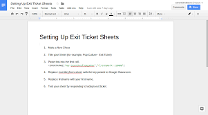 Learning Blog: Live Exit Tickets With Google Forms