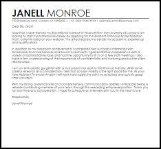 Sample Cover Letter For Recruitment Agency Finance Job Sample Cover Letter Cover Letter Templates