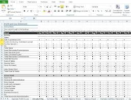 Excel Profit And Loss Template Cool Restaurant Profit And Loss Statement Template Excel Consulting Sales