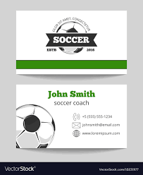 Soccer Business Card Soccer Club Business Card Template
