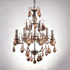 wrought iron crystal chandelier versailles wrought iron and crystal light chandelier