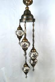 image 1 turkish mosaic chandelier lighting 5 bulbs amber