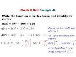 quadratic function warm up