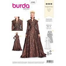 Costume Sewing Patterns Impressive Renaissance Dress Costume Sewing Pattern Burda N°48