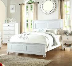 Coastal Style Bedroom Furniture White Wood Bedroom Coastal White Wood Panel  Bed Chic Coastal Style White