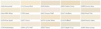 Off White Color Chart Pratt And Lambert Colors Brights Neutrals Off Whites